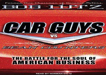[+][PDF] TOP TREND Car Guys vs. Bean Counters: The Battle for the Soul of American Business  [DOWNLOAD]