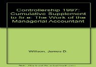 [+]The best book of the month Controllership: Cumulative Supplement to 5r.e: The Work of the Managerial Accountant  [NEWS]