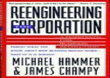 [+][PDF] TOP TREND Reengineering the Corporation: A Manifesto for Business Revolution  [READ]