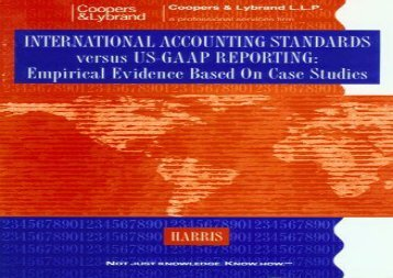 [+][PDF] TOP TREND International Accounting Standards versus Us-Gaap Reporting [PDF]