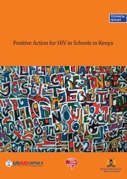 Positive Action for HIV in Schools in Kenya - Population Council