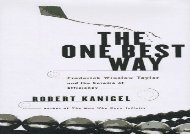 [+]The best book of the month The One Best Way: Frederick Winslow Taylor And the Cult of Efficiency (Sloan Technology)  [FULL]