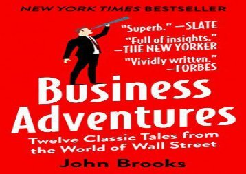 [+]The best book of the month Business Adventures: Twelve Classic Tales from the World of Wall Street  [NEWS]
