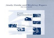 [+][PDF] TOP TREND Study Guide and Working Papers for Use with Cost Accounting: Principles and Applications [PDF]