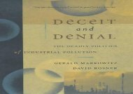 [+]The best book of the month Deceit and Denial: The Deadly Politics of Industrial Pollution (California/Milbank Books on Health and the Public)  [FREE]