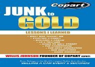 [+]The best book of the month Junk to Gold: From Salvage to the World s Largest Online Auto Auction  [FREE]