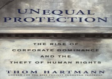 [+]The best book of the month Unequal Protection: The Rise of Corporate Dominance and the Theft of Human Rights  [DOWNLOAD]