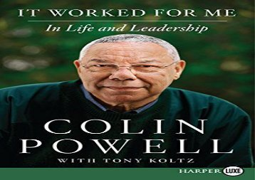 [+]The best book of the month It Worked For Me: In Life and Leadership (large print)  [NEWS]