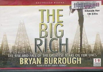 [+][PDF] TOP TREND The Big Rich: The Rise and Fall of the Greatest Texas Oil Fortunes  [READ]
