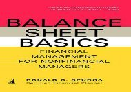[+]The best book of the month Balance Sheet Basics: Financial Management for Nonfinancial Managers  [DOWNLOAD]