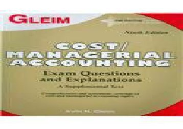 [+]The best book of the month Cost/ Managerial Accounting: Exam Questions and Explanations [PDF]