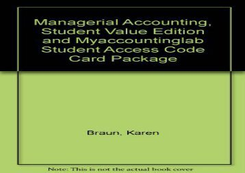 Best the best book of the month managerial accounting student value edition and fandeluxe Image collections