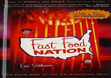 [+]The best book of the month Fast Food Nation: The Dark Side of the All-American Meal  [FULL]