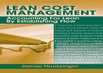 [+]The best book of the month Lean Cost Management: Accounting for Lean by Establishing Flow  [DOWNLOAD]