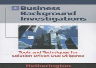 [+][PDF] TOP TREND Business Background Investigations: Tools and Techniques for Solution Driven Due Diligence  [DOWNLOAD]