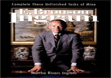 [+][PDF] TOP TREND E. Bronson Ingram: Complete These Unfinished Tasks of Mine (Thl (Series).)  [DOWNLOAD]