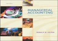 [+]The best book of the month Managerial Accounting: Creating Value in a Dynamic Business Environment w/PowerWeb/OLC, and Net Tutor card  [NEWS]
