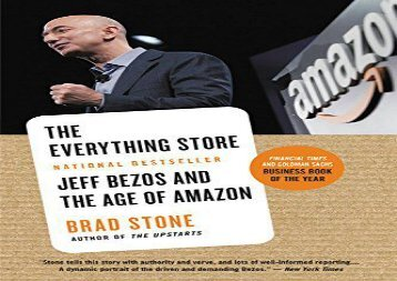 [+][PDF] TOP TREND The Everything Store: Jeff Bezos and the Age of Amazon  [FREE]