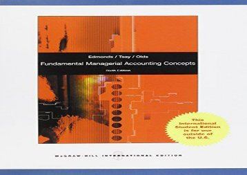 [+]The best book of the month Fundamental Managerial Accounting Concepts [PDF]