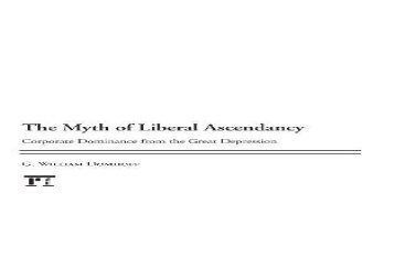 [+][PDF] TOP TREND Myth of Liberal Ascendancy: Corporate Dominance from the Great Depression to the Great Recession  [FULL]