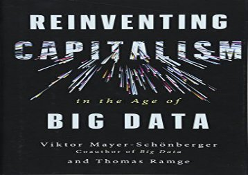 [+][PDF] TOP TREND Reinventing Capitalism in the Age of Big Data  [FREE]