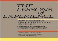 [+]The best book of the month The Lessons of Experience: How Successful Executives Develop on the Job  [FULL]