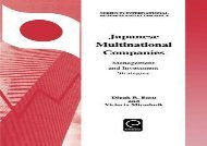 [+][PDF] TOP TREND Japanese Multinational Companies: Management and Investment Strategies (Series in International Business and Economics)  [FREE]