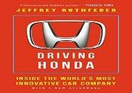 [+][PDF] TOP TREND Driving Honda: Inside the World s Most Innovative Car Company [PDF]