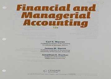 [+][PDF] TOP TREND Financial   Managerial Accounting  [FREE]
