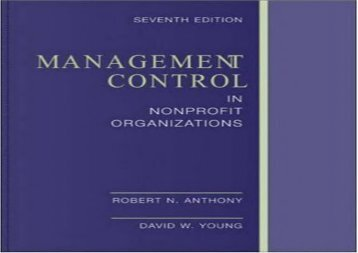 [+]The best book of the month Management Control In Nonprofit Organizations  [FREE]