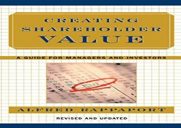 [+][PDF] TOP TREND Creating Shareholder Value: A Guide for Managers and Investors: The New Standard for Business Performance  [FREE]