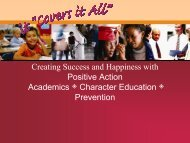Creating Success and Happiness with Positive Action Academics ...