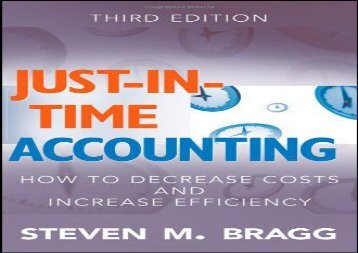 [+]The best book of the month Just-in-Time Accounting: How to Decrease Costs and Increase Efficiency  [NEWS]