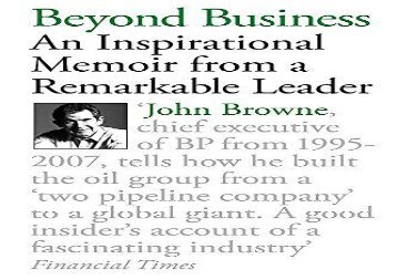 [+]The best book of the month Beyond Business: An Inspirational Memoir From a Remarkable Leader  [NEWS]