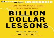 [+]The best book of the month Billion Dollar Lessons: What You Can Learn from the Most Inexcusable Business Failures of the Last 25 Years  [DOWNLOAD]