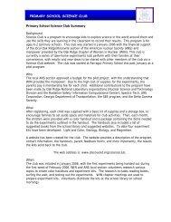 PRIMARY SCHOOL SCIENCE CLUB - Radiation Safety Information ...