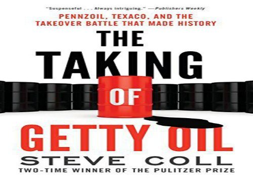 The best book of the month The Taking of Getty Oil: Pennzoil, Texaco