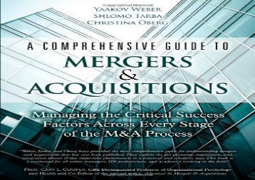 [+]The best book of the month A Comprehensive Guide to Mergers   Acquisitions: Managing the Critical Success Factors Across Every Stage of the M A Process  [READ]