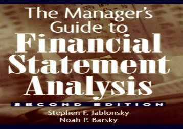 [+]The best book of the month The Manager s Guide to Financial Statement Analysis (Wiley Finance)  [NEWS]