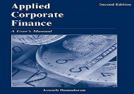 [+]The best book of the month Applied Corporate Finance: A User s Manual [PDF]