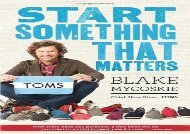 [+]The best book of the month Start Something That Matters  [NEWS]