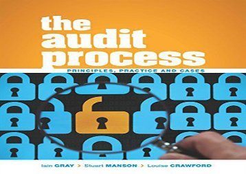 [+]The best book of the month The Audit Process: Principles, Practice and Cases  [DOWNLOAD]