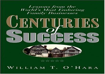[+][PDF] TOP TREND Centuries of Success: Lessons from the World s Most Enduring Family Businesses [PDF]