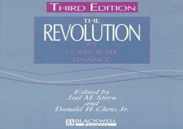 [+]The best book of the month The Revolution in Corporate Finance  [FREE]