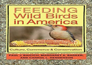 [+]The best book of the month Feeding Wild Birds in America: Culture, Commerce, and Conservation [PDF]