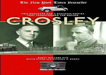 [+]The best book of the month Crosley: Two Brothers and a Business Empire That Transformed the Nation  [FREE]