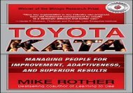 [+]The best book of the month Toyota Kata: Managing People for Improvement, Adaptiveness and Superior Results  [READ]