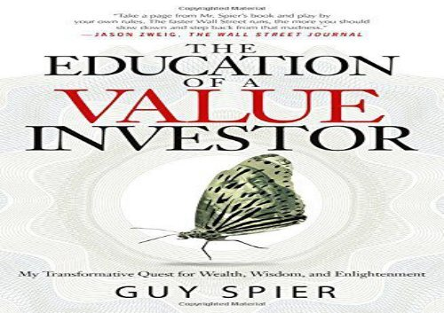 [+]The best book of the month The Education of a Value Investor  [DOWNLOAD]