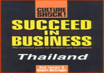 [+][PDF] TOP TREND Succeed in Business: Thailand (Culture Shock!)  [READ]