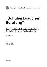 """""""Schulen brauchen Beratung"""" - Bildungsdirektion - Kanton Zürich"""